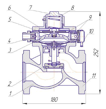 Мембрана обратного клапана ПКК-40М