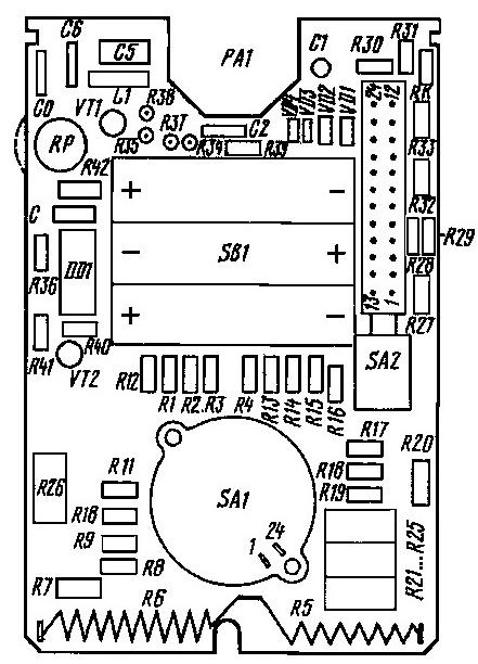 Схема мультиметр 43104