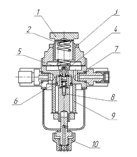 Схема редуктора РДФ-3м1